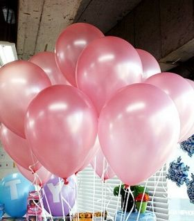 metalik pembe balon
